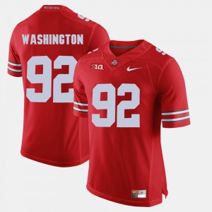 Buckeyes #92 Mens Adolphus Washington Jersey Scarlet Embroidery Alumni Football Game 462954-912