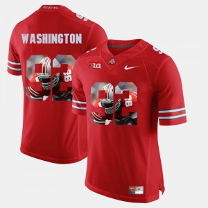 OSU #92 Men Adolphus Washington Jersey Scarlet Pictorial Fashion Stitched 295883-476