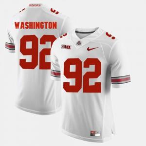 Ohio State #92 For Men Adolphus Washington Jersey White Stitched Alumni Football Game 164245-751