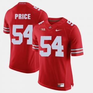 OSU #54 Men's Billy Price Jersey Scarlet Stitched Alumni Football Game 234279-966