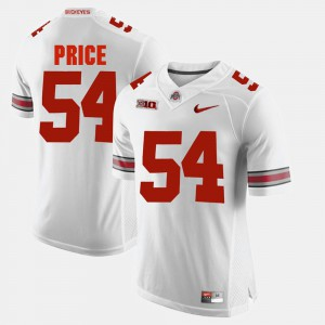Ohio State #54 Mens Billy Price Jersey White Alumni Football Game Stitched 302202-965