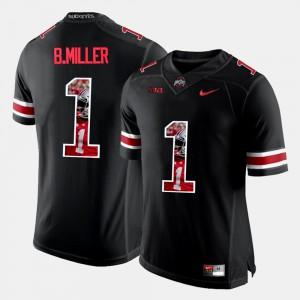 Ohio State #1 Mens Braxton Miller Jersey Black Stitch Pictorial Fashion 577713-443