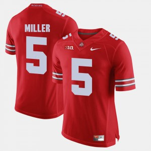 OSU Buckeyes #5 Mens Braxton Miller Jersey Scarlet Alumni Alumni Football Game 946575-802