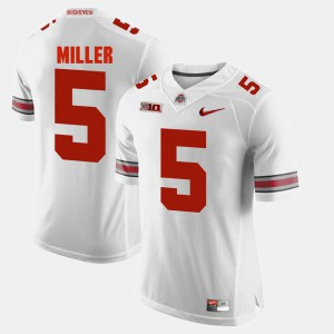 Buckeyes #5 For Men Braxton Miller Jersey White Alumni Alumni Football Game 482357-248