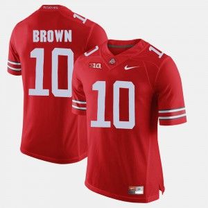 Ohio State #10 For Men CaCorey Brown Jersey Scarlet Alumni Football Game High School 212536-639
