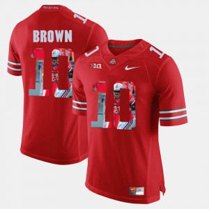 Ohio State #10 For Men's CaCorey Brown Jersey Scarlet College Pictorial Fashion 354536-513