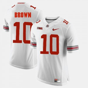 Ohio State #10 Mens CaCorey Brown Jersey White Official Alumni Football Game 885922-864
