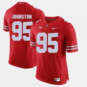 Ohio State Buckeyes #95 Mens Cameron Johnston Jersey Scarlet Alumni Alumni Football Game 305521-778