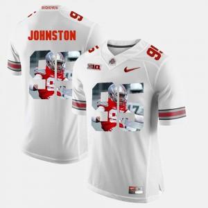 Ohio State #95 Men Cameron Johnston Jersey White Player Pictorial Fashion 486505-967
