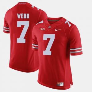 Buckeyes #7 Men's Damon Webb Jersey Scarlet Alumni Football Game Official 527655-692