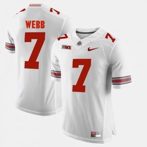 Ohio State #7 Mens Damon Webb Jersey White Embroidery Alumni Football Game 379388-726