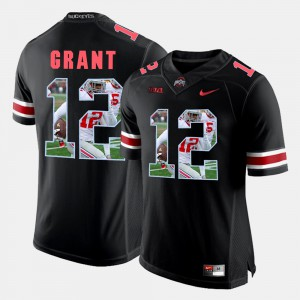 Ohio State #12 Men Doran Grant Jersey Black Pictorial Fashion Stitched 210194-180