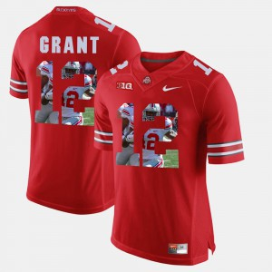 Ohio State #12 Mens Doran Grant Jersey Scarlet NCAA Pictorial Fashion 533629-153