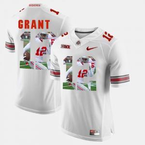 Ohio State #12 For Men Doran Grant Jersey White University Pictorial Fashion 763519-268