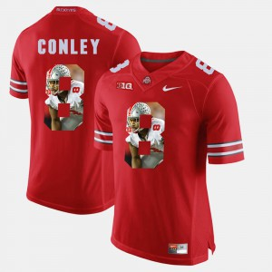 Ohio State #8 For Men's Gareon Conley Jersey Scarlet Pictorial Fashion High School 416230-629