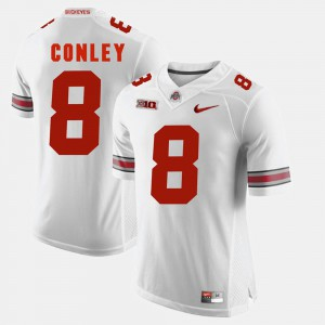 Ohio State #8 Mens Gareon Conley Jersey White High School Alumni Football Game 542393-713
