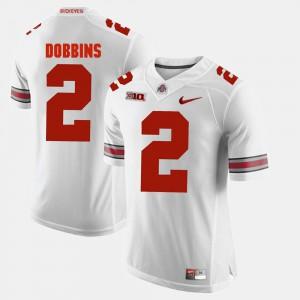 Buckeye #2 Men's J.K. Dobbins Jersey White Alumni Football Game High School 453368-972