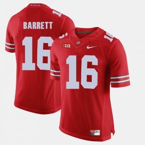 Buckeyes #16 For Men J.T. Barrett Jersey Scarlet Alumni Football Game University 342704-749