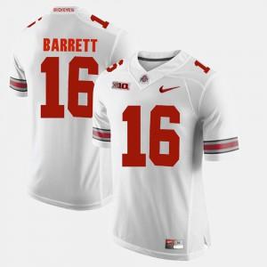 Ohio State #16 Men J.T. Barrett Jersey White Alumni Alumni Football Game 686792-795