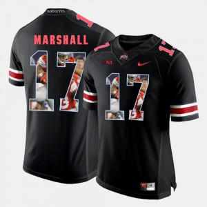 Ohio State #17 For Men's Jalin Marshall Jersey Black Alumni Pictorial Fashion 828335-857