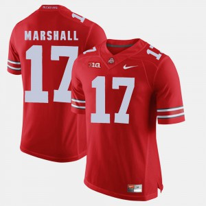 Ohio State Buckeyes #17 Mens Jalin Marshall Jersey Scarlet Stitched Alumni Football Game 914640-637