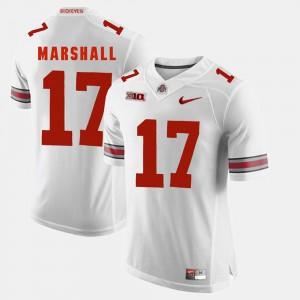 OSU #17 Men's Jalin Marshall Jersey White Alumni Alumni Football Game 751906-819