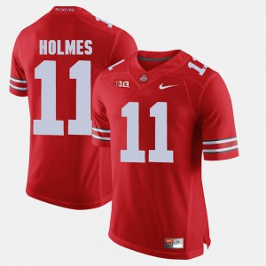 Ohio State #11 Men Jalyn Holmes Jersey Scarlet Alumni Football Game Stitched 832292-413