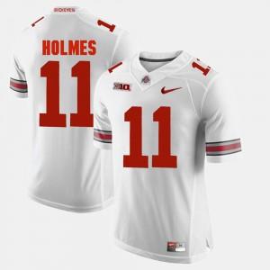 Ohio State Buckeyes #11 For Men's Jalyn Holmes Jersey White Alumni Football Game NCAA 391241-793