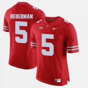 Ohio State Buckeyes #5 For Men's Jeff Heuerman Jersey Scarlet University Alumni Football Game 589402-916