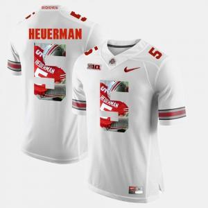 Buckeyes #5 Men Jeff Heuerman Jersey White Stitch Pictorial Fashion 888735-579