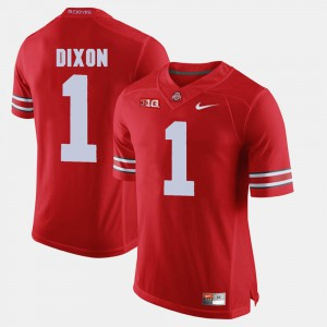 Buckeyes #1 For Men's Johnnie Dixon Jersey Scarlet Alumni Football Game Embroidery 359092-674