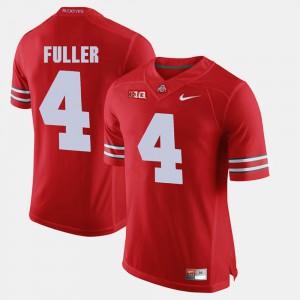 Ohio State Buckeyes #4 For Men's Jordan Fuller Jersey Scarlet NCAA Alumni Football Game 314040-760