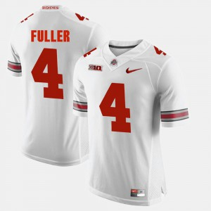 Ohio State #4 Men's Jordan Fuller Jersey White Player Alumni Football Game 940446-524