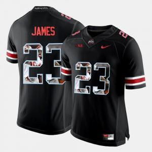 OSU Buckeyes #23 For Men's Lebron James Jersey Black NCAA Pictorial Fashion 975083-730