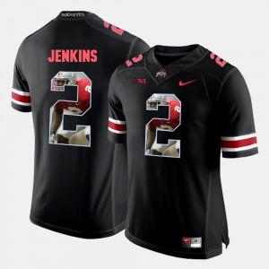 Ohio State #2 For Men Malcolm Jenkins Jersey Black Stitch Pictorial Fashion 685754-116