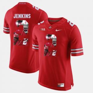 OSU #2 For Men's Malcolm Jenkins Jersey Scarlet University Pictorial Fashion 460488-859