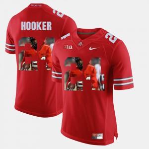Ohio State Buckeyes #24 For Men's Malik Hooker Jersey Scarlet NCAA Pictorial Fashion 810364-275