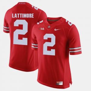 Ohio State #2 Men's Marshon Lattimore Jersey Scarlet Official Alumni Football Game 699165-701