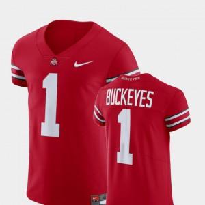 OSU Buckeyes #1 Men's Jersey Scarlet V-Neck Football Elite University 754182-634