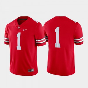 Buckeyes #1 Mens Jersey Scarlet Player Game College Football 934281-850