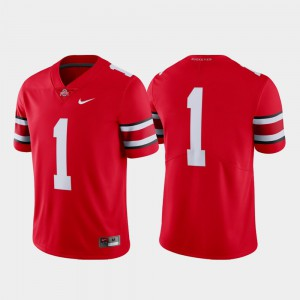 Ohio State #1 Mens Jersey Scarlet Stitch Limited College Football 716275-398