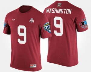 OSU #9 For Men's Adolphus Washington T-Shirt Scarlet Alumni Bowl Game Big Ten Conference Cotton Bowl 537156-738