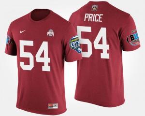 Ohio State #54 Men Billy Price T-Shirt Scarlet College Big Ten Conference Cotton Bowl Bowl Game 448749-502