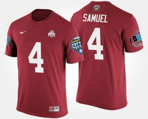 Ohio State #4 Mens Curtis Samuel T-Shirt Scarlet High School Bowl Game Big Ten Conference Cotton Bowl 218786-787