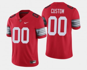 OSU Buckeyes #00 For Men's Custom Jersey Scarlet Official 2018 Spring Game Limited 984932-514