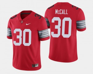 Buckeye #30 For Men's Demario McCall Jersey Scarlet University 2018 Spring Game Limited 671478-375