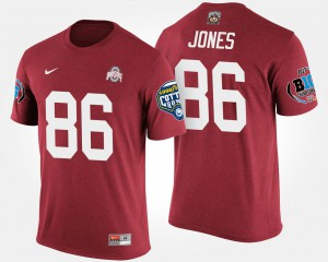 Ohio State Buckeye #86 Men Dre'Mont Jones T-Shirt Scarlet Big Ten Conference Cotton Bowl Bowl Game College 227310-148