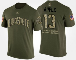 OSU #13 For Men's Eli Apple T-Shirt Camo University Short Sleeve With Message Military 465154-468