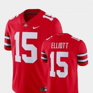 OSU Buckeyes #15 For Men's Ezekiel Elliott Jersey Scarlet NCAA Alumni College Limited Football 434889-977