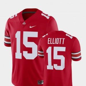 OSU Buckeyes #15 For Men Ezekiel Elliott Jersey Scarlet Alumni Player Alumni Football Game 723914-551